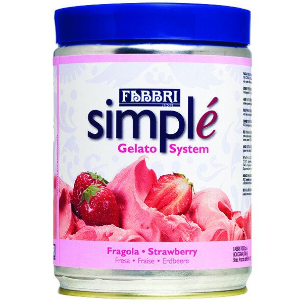 Fabbri 1.5 kg Strawberry Simple One-Step Soft Serve / Frozen Dessert Mix Main Image 1