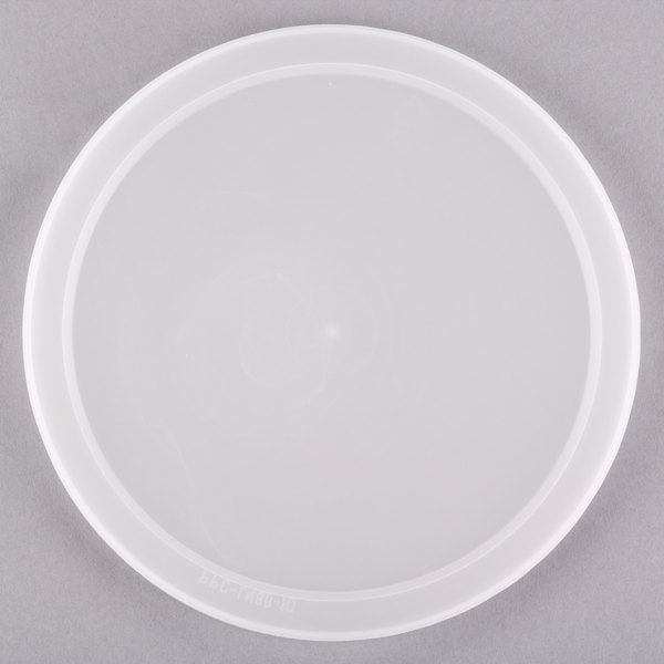 "6 1/2"" Microwavable Translucent Round Deli Container Lid - 200/Case Main Image 1"