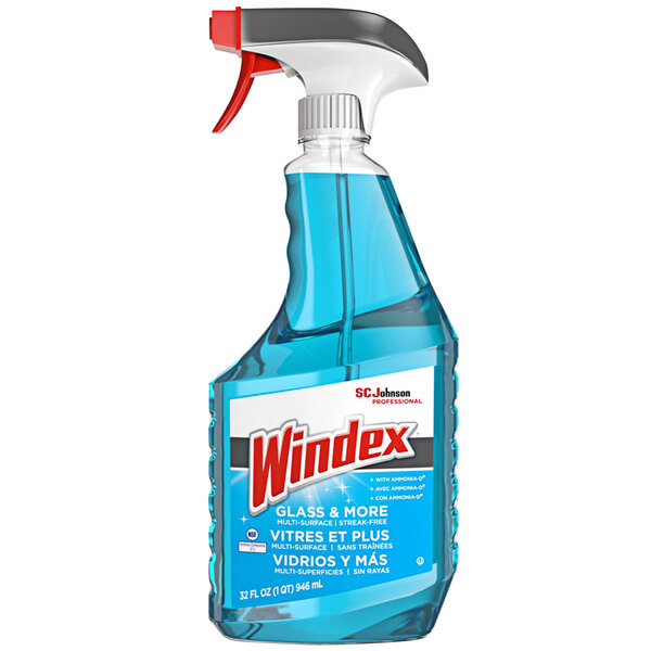 SC Johnson Windex® 322338 Glass & More 32 oz. Glass and Multi-Surface Cleaner with Ammonia-D - 8/Case Main Image 1