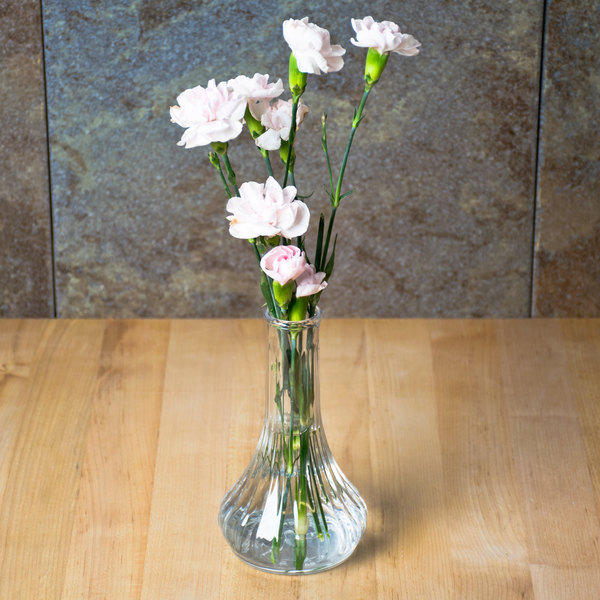 """Cambro BV6CW135 Camwear 6"""" Clear Customizable Polycarbonate Bud Vase - 12/Case"""