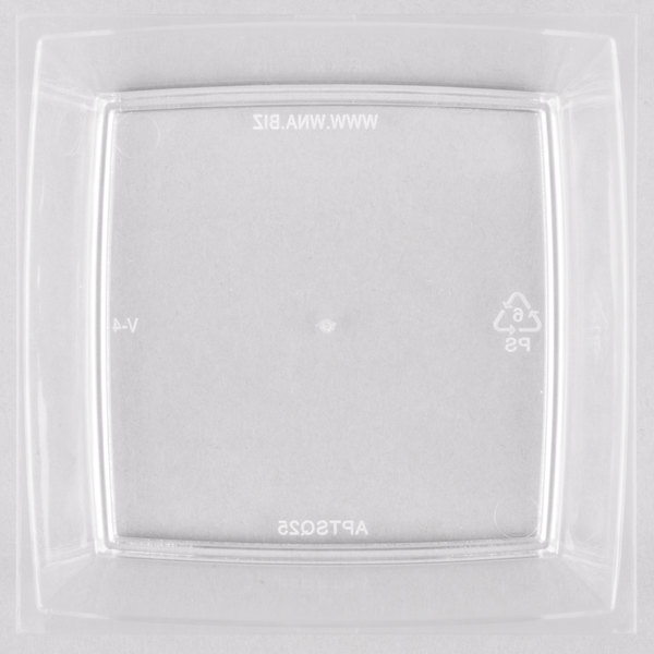 WNA Comet APTSQ25 Petites 2 1/2 inch Clear Square Dish - 50/Pack