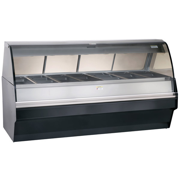 """Alto-Shaam TY2SYS-96/PR BK Black Heated Display Case with Curved Glass and Base - Right Self Service 96"""""""