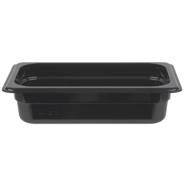 Cambro 42HP110 H-Pan 1/4 Size Black High Heat Food Pan - 2 1/2 inch Deep
