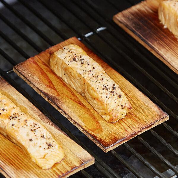 "Backyard Pro 3 1/2"" x 6 1/2"" Cedar Wood Grilling Planks - 12/Pack Main Image 3"
