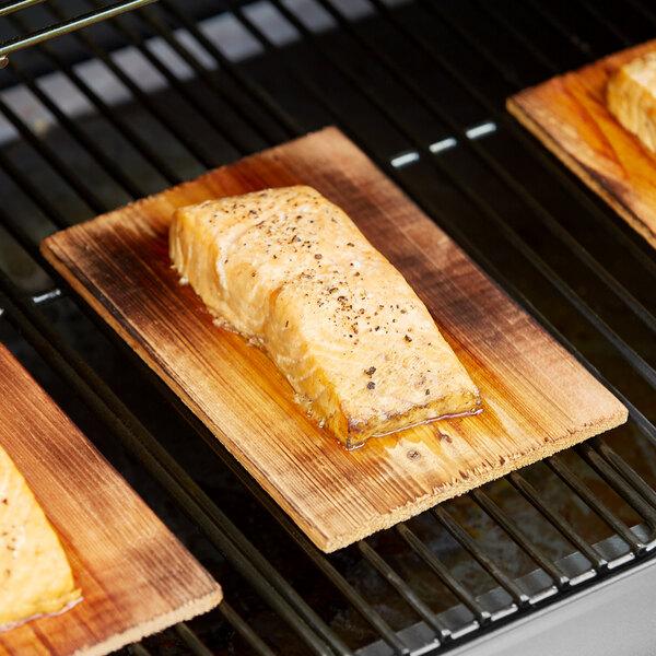 "Backyard Pro 5 1/2"" x 8"" Cedar Wood Grilling Planks - 12/Pack Main Image 3"