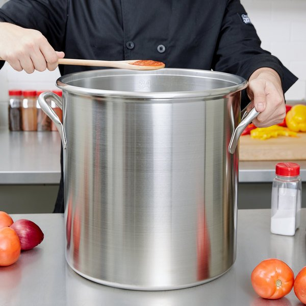 Vollrath 77630 Tri Ply 38.5 Qt. Stainless Steel Stock Pot Main Image 2