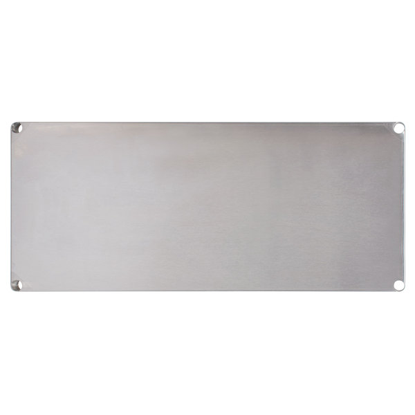 """Advance Tabco SH-1842 18"""" x 42"""" Solid Stainless Steel Shelf"""