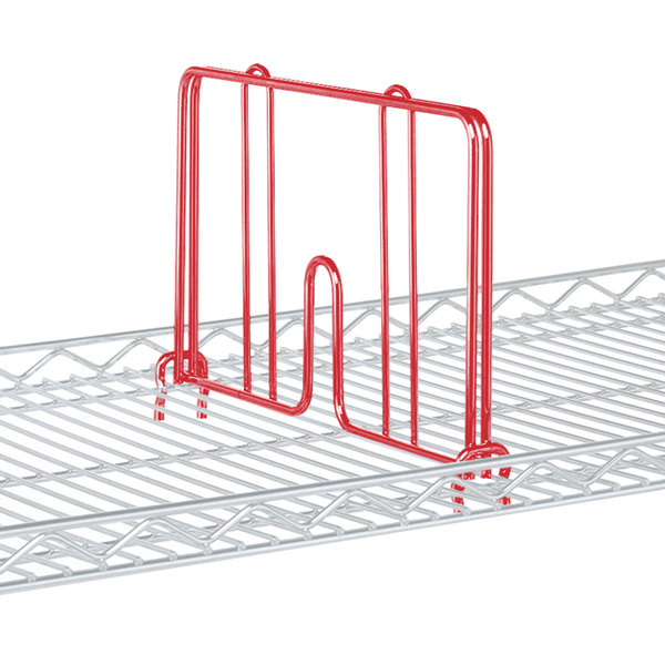 """Metro HD18-DF Flame Red Drop Mat Snap-On Divider - 18"""" Wide"""