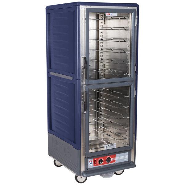 Metro C539-HDC-U-BU C5 3 Series Heated Holding Cabinet with Clear Dutch Doors - Blue Main Image 1