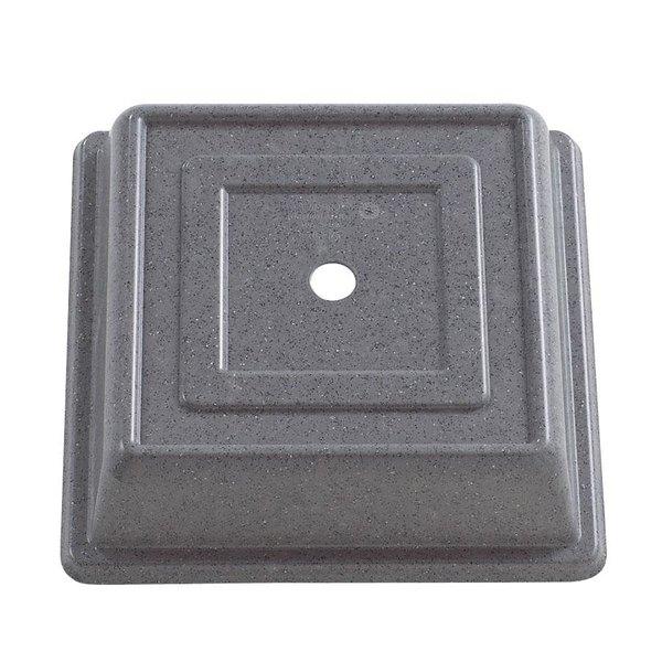 """Cambro 978SFVS191 Versa Camcover 10"""" Granite Gray Square Plate Cover - 12/Case"""
