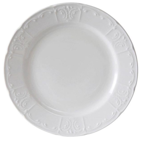 "Tuxton CHA-077 Chicago 7 7/8"" Bright White China Plate - 36/Case"