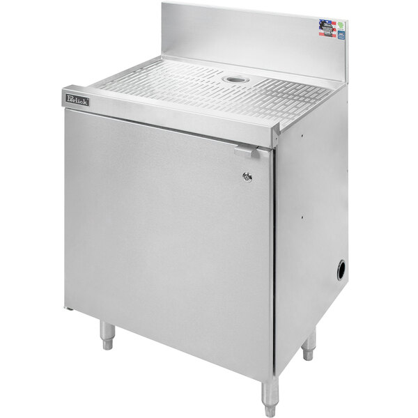 """Perlick SC18-18 18"""" Stainless Steel Drainboard Storage Cabinet with Shelf Main Image 1"""