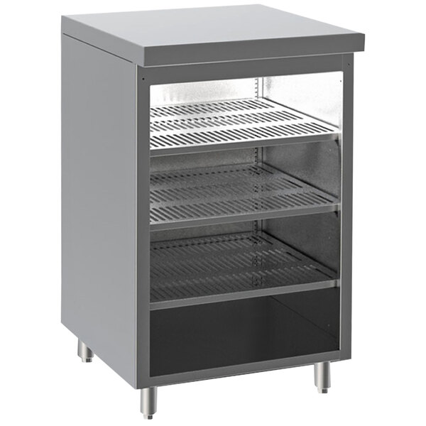 """Perlick DBGS30 30"""" x 24 3/4"""" Stainless Steel Back Bar Glass Storage Cabinet Main Image 1"""