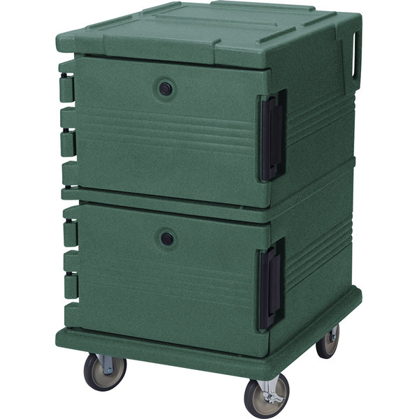 Cambro UPC1200192 Ultra Camcarts® Granite Green Insulated Food Pan Carrier - Holds 16 Pans Main Image 1