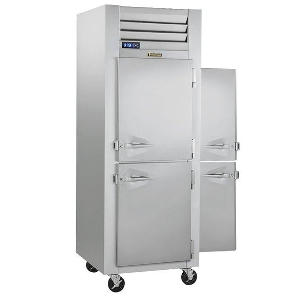 Traulsen G10003P 1 Section Solid Half Door Pass-Through Refrigerator - Right / Left Hinged Doors Main Image 1