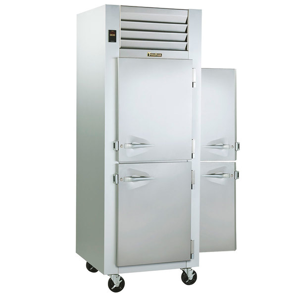Traulsen G10003P 1 Section Solid Half Door Pass-Through Refrigerator - Right / Left Hinged Doors