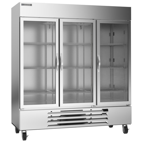 "Beverage-Air HBF72-5-G Horizon Series 75"" Glass Door Reach-In Freezer with LED Lighting"
