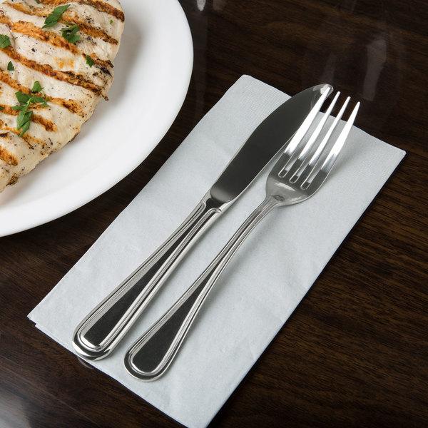 Regency Flatware Stainless Steel European Size Table Knife - 12/Case