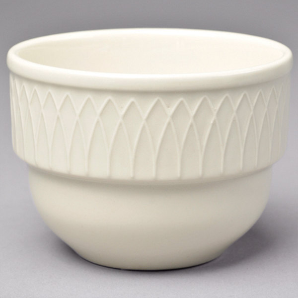 Homer Laughlin 3837000 Gothic 7 oz. Ivory (American White) China Bouillon Cup - 36/Case