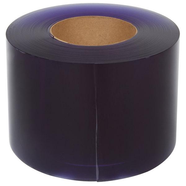 """Curtron FCS08080-1 8"""" x .080"""" x 105' Clear PVC Strip Door Roll - Standard Grade"""