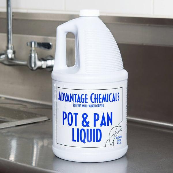 Advantage Chemicals 1 gallon / 128 oz. Pot & Pan Liquid Detergent - 4/Case