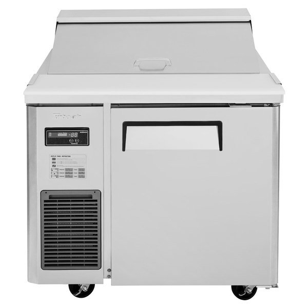"Turbo Air JST-36 36"" 1 Door Side Mount Compressor Refrigerated Sandwich Prep Table"