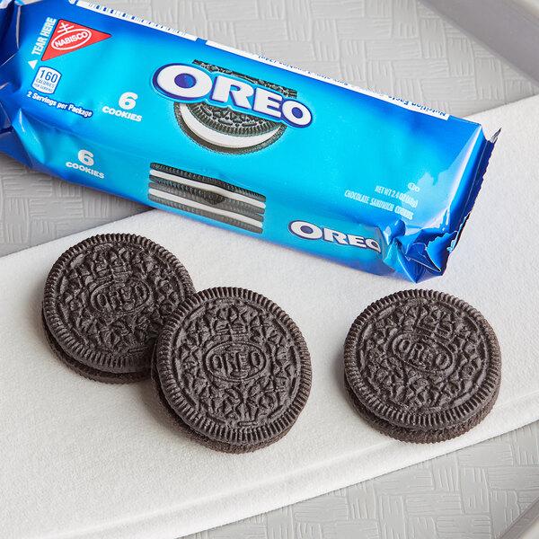 Nabisco Oreo 6-Count (2.4 oz.) Cookie Sleeve - 48/Case Main Image 3
