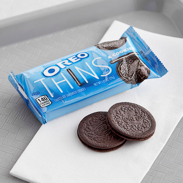 Nabisco Oreo Thins 4-Count (1.02 oz) Cookie Pack - 48/Case Main Image 3