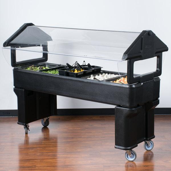 Carlisle 660603 Black 6' Six Star Open Base Portable Food / Salad Bar