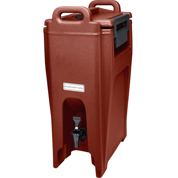Cambro UC500402 Ultra Camtainer 5.25 Gallon Brick Red Insulated Beverage Dispenser