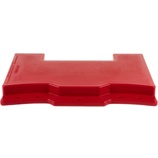 Cambro VCS32CNT158 Hot Red Connector for Connecting Versa Carts to Versa Food Bars / Work Tables Main Image 1