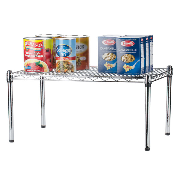 """Regency 24"""" x 18"""" x 14"""" Chrome Plated Wire Dunnage Rack - 600 lb. Capacity"""