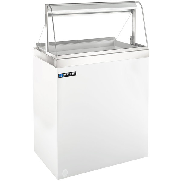 Master-Bilt DD-26CG 27 inch Curved Glass Ice Cream Dipping Cabinet