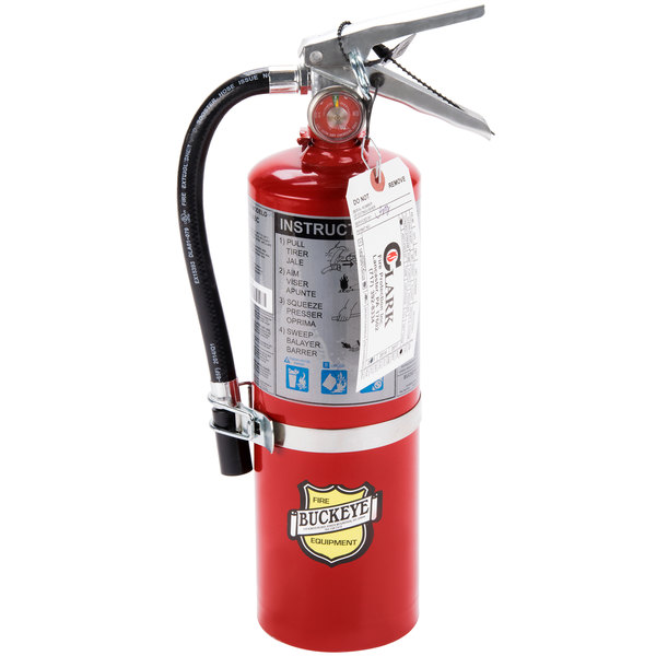 Buckeye 5 lb. Vehicle Fire Extinguisher Class ABC - Rechargeable Tagged - UL Rating 3A: 40 B:C