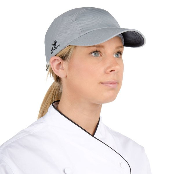 Headsweats Gray Customizable 5-Panel Chef Cap with Eventure Fabric and Terry Sweatband Main Image 1