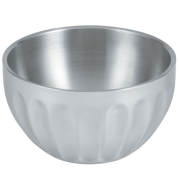 Vollrath 47686 Fluted Double Wall Round 1.7 Qt. Serving Bowl