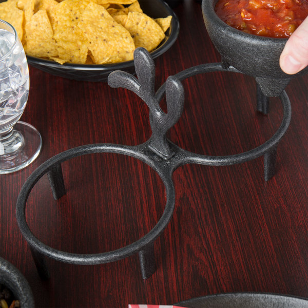 HS Inc. HS1027 Charcoal Polyethylene Salsa Caddy for (2) HS Inc. HS1006(D) Molcajetes - 24/Case