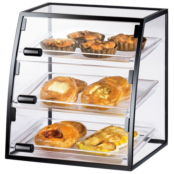 """Cal-Mil 1708-1014 Iron Curved Self-Service Display Case - 16"""" x 15"""" x 17 1/4"""""""