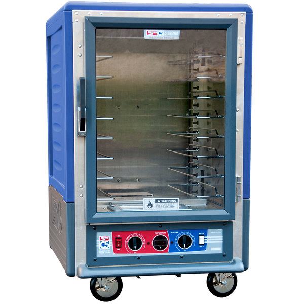 Metro C535-CFC-U-BU C5 3 Series Heated Holding and Proofing Cabinet with Clear Door - Blue Main Image 1