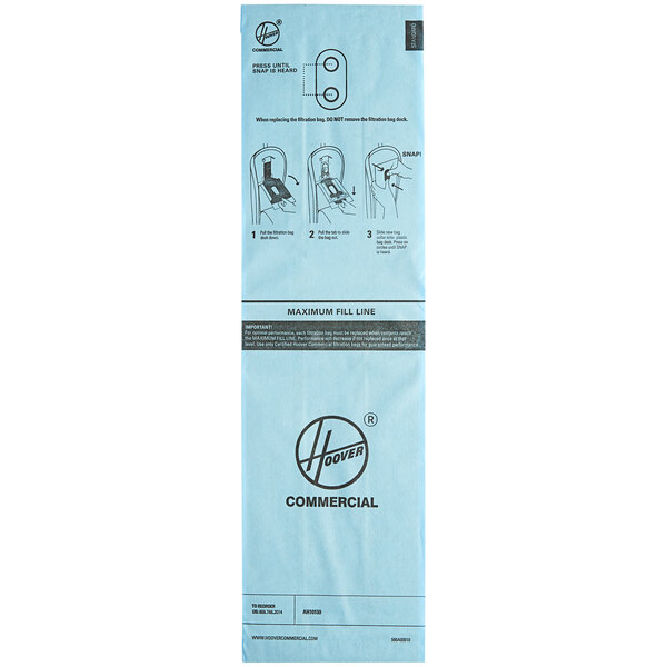 Hoover AH10159 Standard Filtration Vacuum Bag for CH95519 Vacuum - 10/Pack Main Image 1
