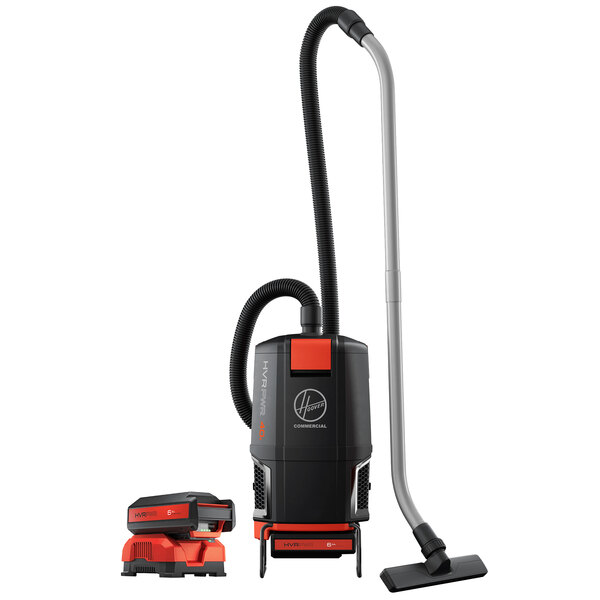 Hoover HVRPWR 40V Cordless Backpack Vacuum Cleaner with Battery and Charger - 450W Main Image 1