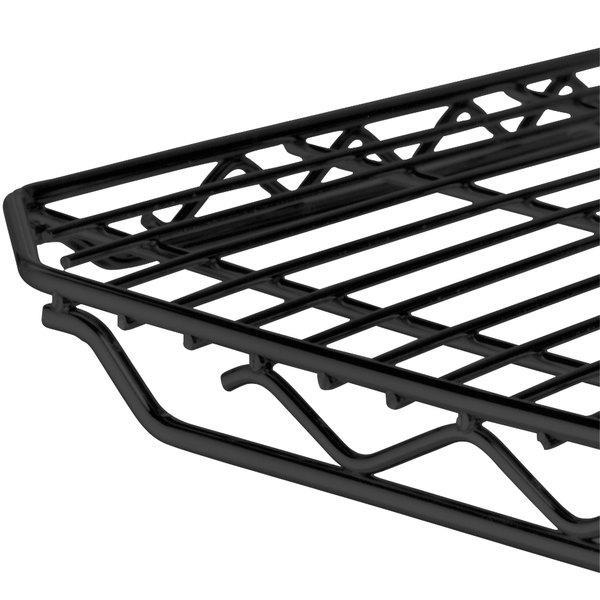 "Metro 1436QBL qwikSLOT Black Wire Shelf - 14"" x 36"" Main Image 1"