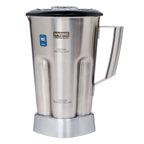 Waring CAC90 64 oz. Stainless Steel Container with Blade and Lid for All MX1 Series Blenders Main Image 1