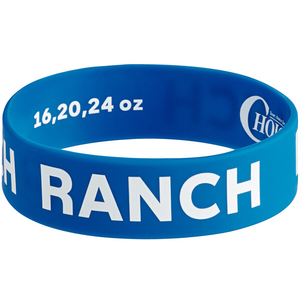 """Choice """"Ranch"""" Silicone Squeeze Bottle Label Band for 16, 20, and 24 oz. Standard & Wide Mouth Bottles Main Image 1"""