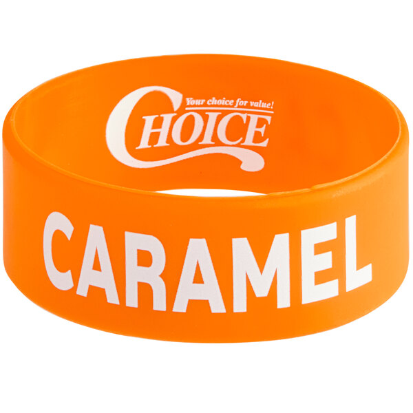 """Choice """"Caramel"""" Silicone Squeeze Bottle Label Band for 8 and 12 oz. Standard & Wide Mouth Bottles Main Image 1"""