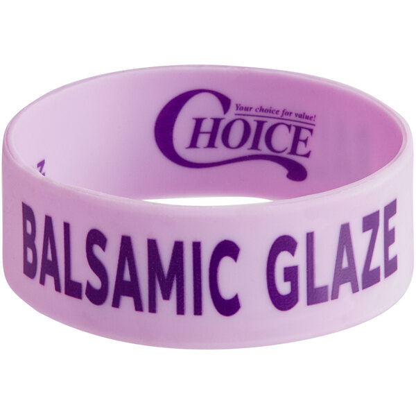 """Choice """"Balsamic Glaze"""" Silicone Squeeze Bottle Label Band for 8 and 12 oz. Standard & Wide Mouth Bottles Main Image 1"""