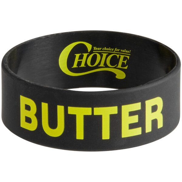 """Choice """"Butter"""" Silicone Squeeze Bottle Label Band for 8 and 12 oz. Standard & Wide Mouth Bottles Main Image 1"""