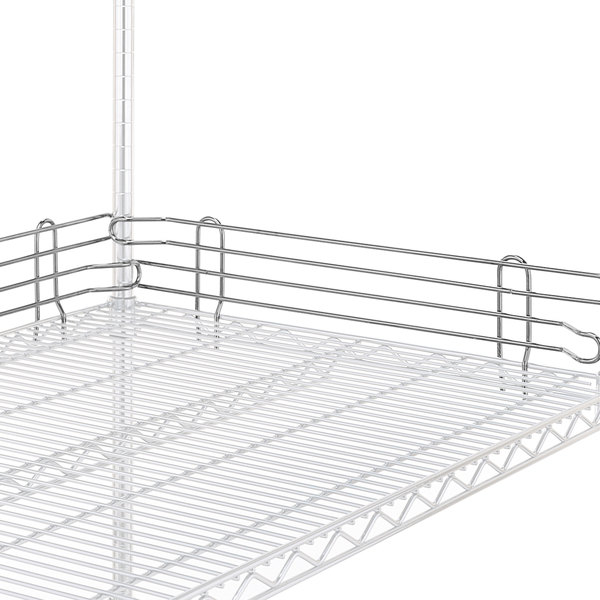 "Metro L24N-4S Super Erecta Stainless Steel Stackable Ledge 24"" x 4"""
