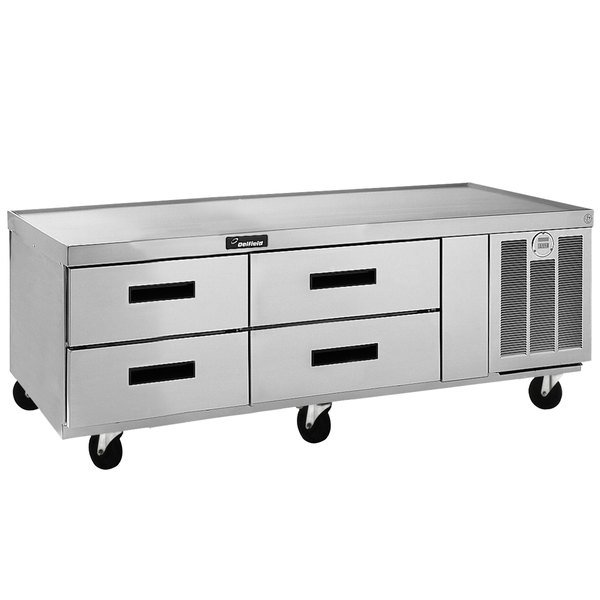 """Delfield F2962CP 62"""" Four Drawer Refrigerated Chef Base"""