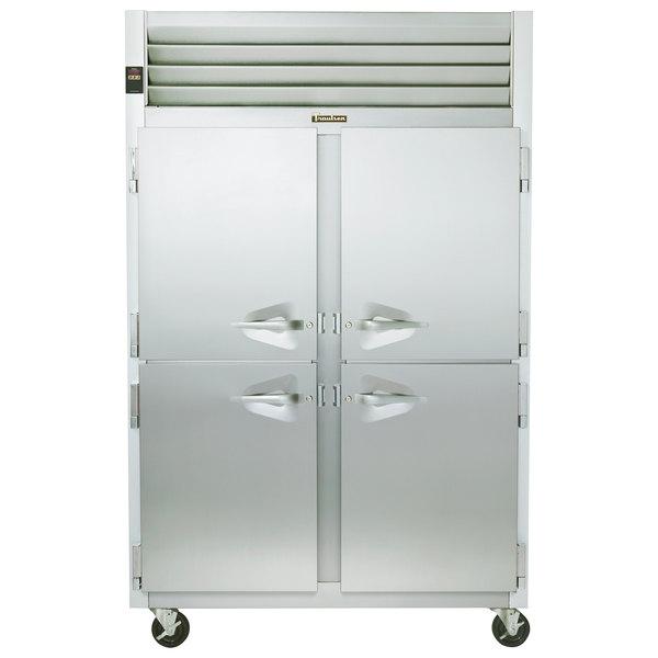 Traulsen G22000 2 Section Half Door Reach In Freezer - Left / Right Hinged Doors Main Image 1